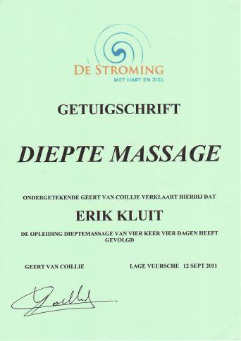 diepte massage diploma