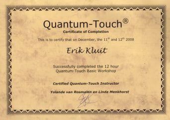 Certificaat Quantum Touch